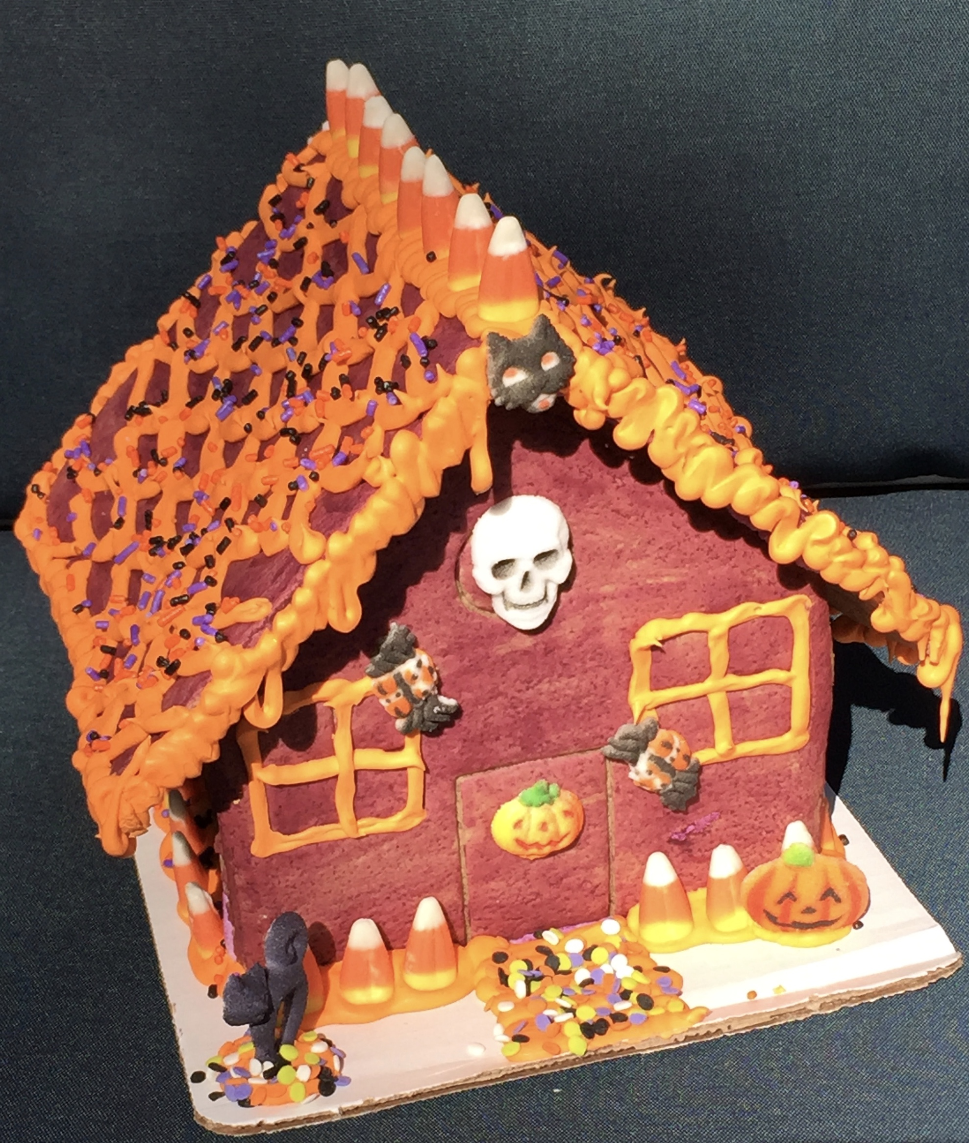 Kids Haunted Gingerbread House Decorating